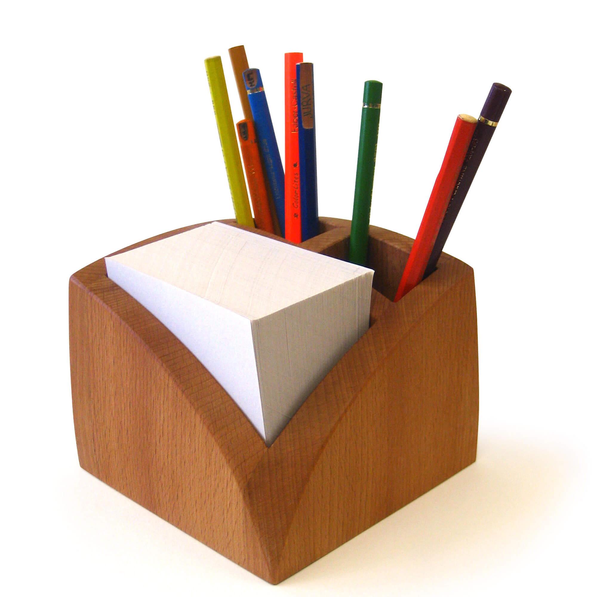 zettelbox mit stiftehalter hermann j lich. Black Bedroom Furniture Sets. Home Design Ideas